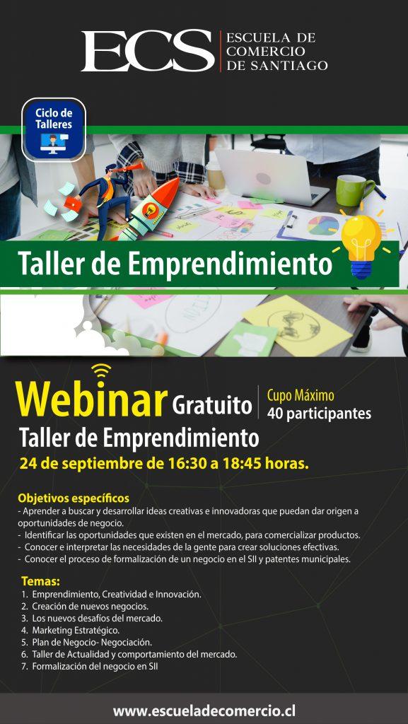 Escuela de Comercio - Taller de Emprendimiento Webinar ECS
